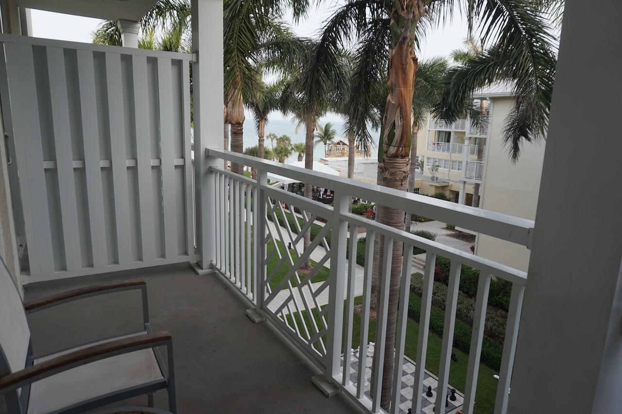 Balcony and view