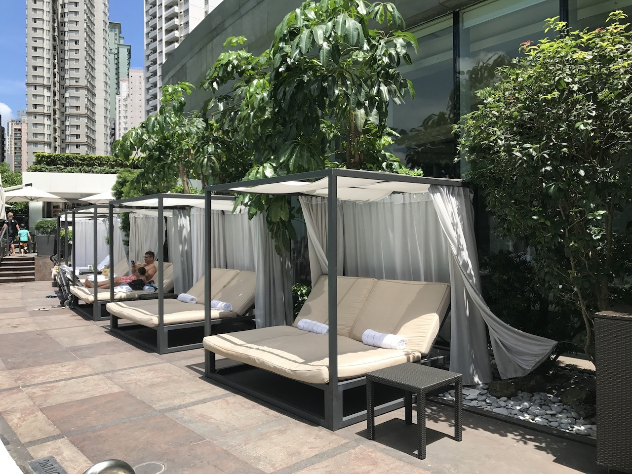 Resort-style loungers