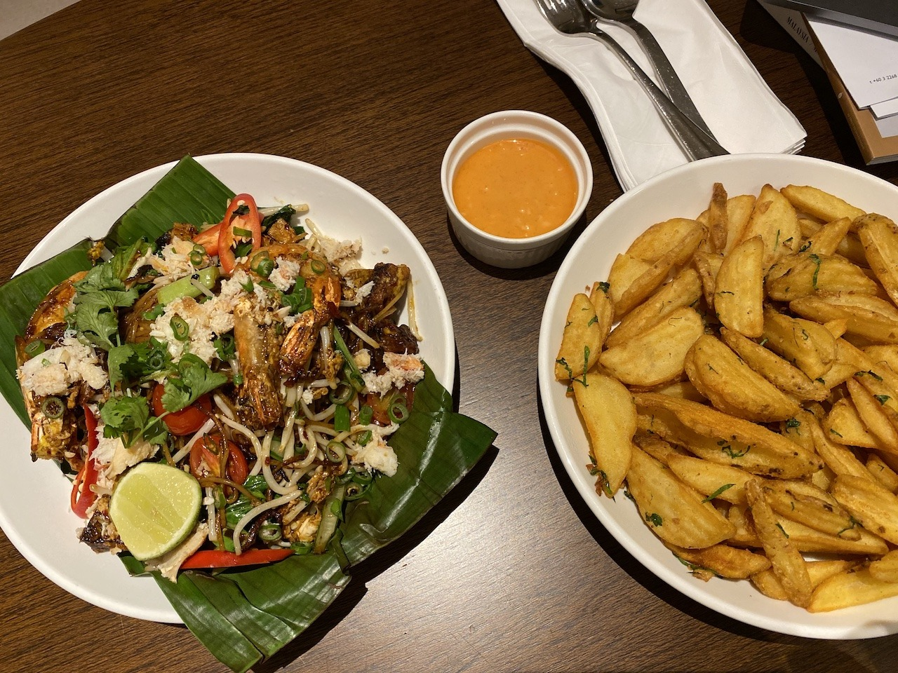 Crab fried rice and fries