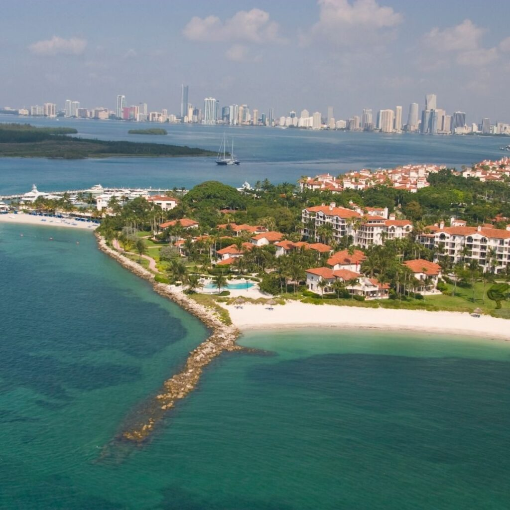 Fisher Island aerial view, an excellent add on if you have more then one day in miami