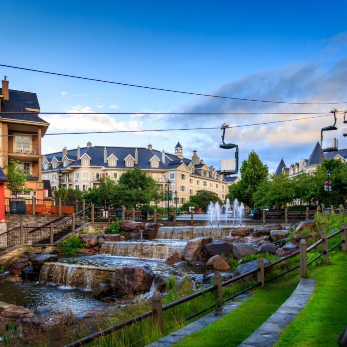 View of the best hotels in Mont Tremblant Cananda