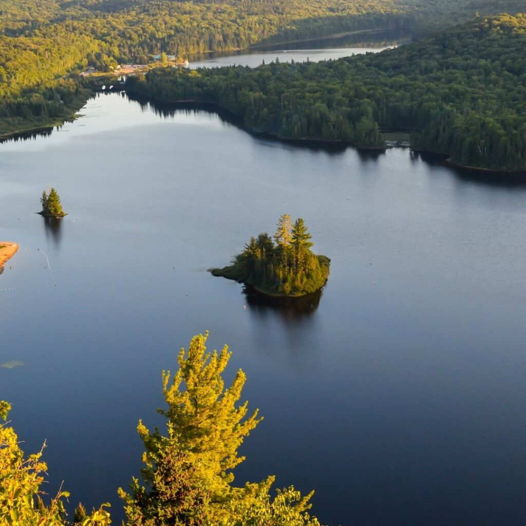 Aerial view Mont-Tremblant National Park