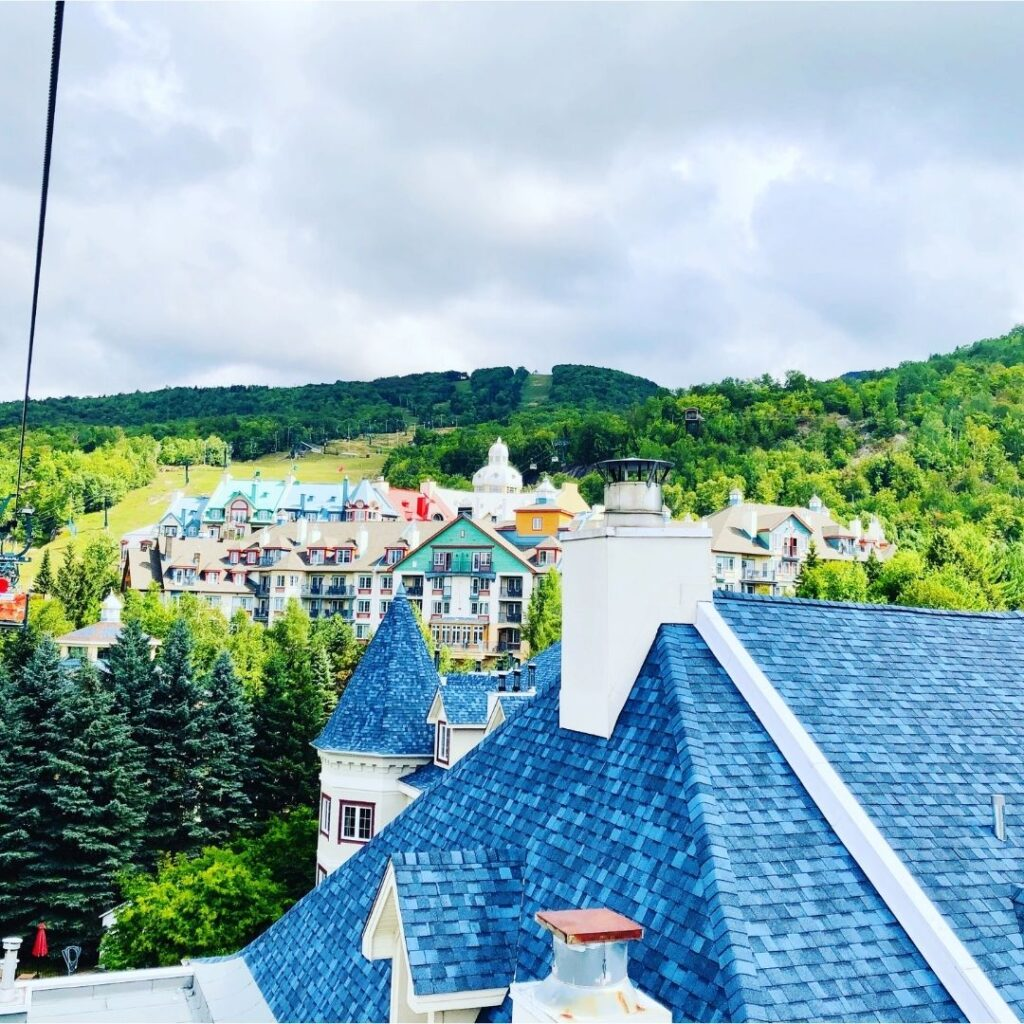 Blue roof at Mont-Tremblant