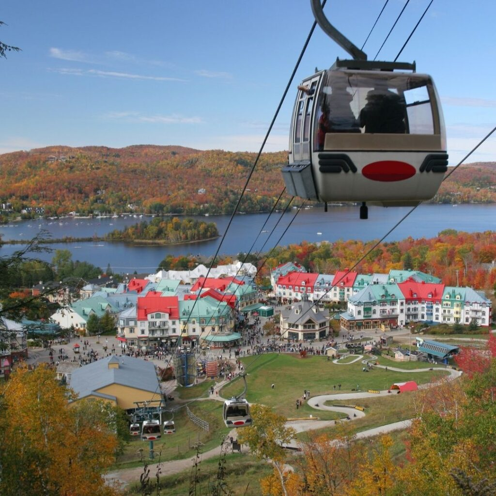 Gondola from the best hotels in mont tremblant Canada