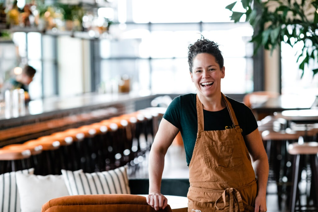 Chef Stephanie Izard at one of her restaurants for the Marriott Bonvoy Moments